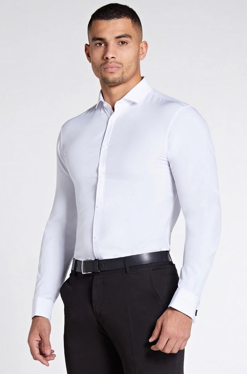 Elite Double Cuff Shirt In White