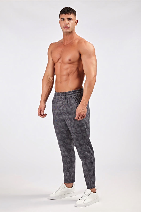 Smart Joggers in Prince of Wales Grey