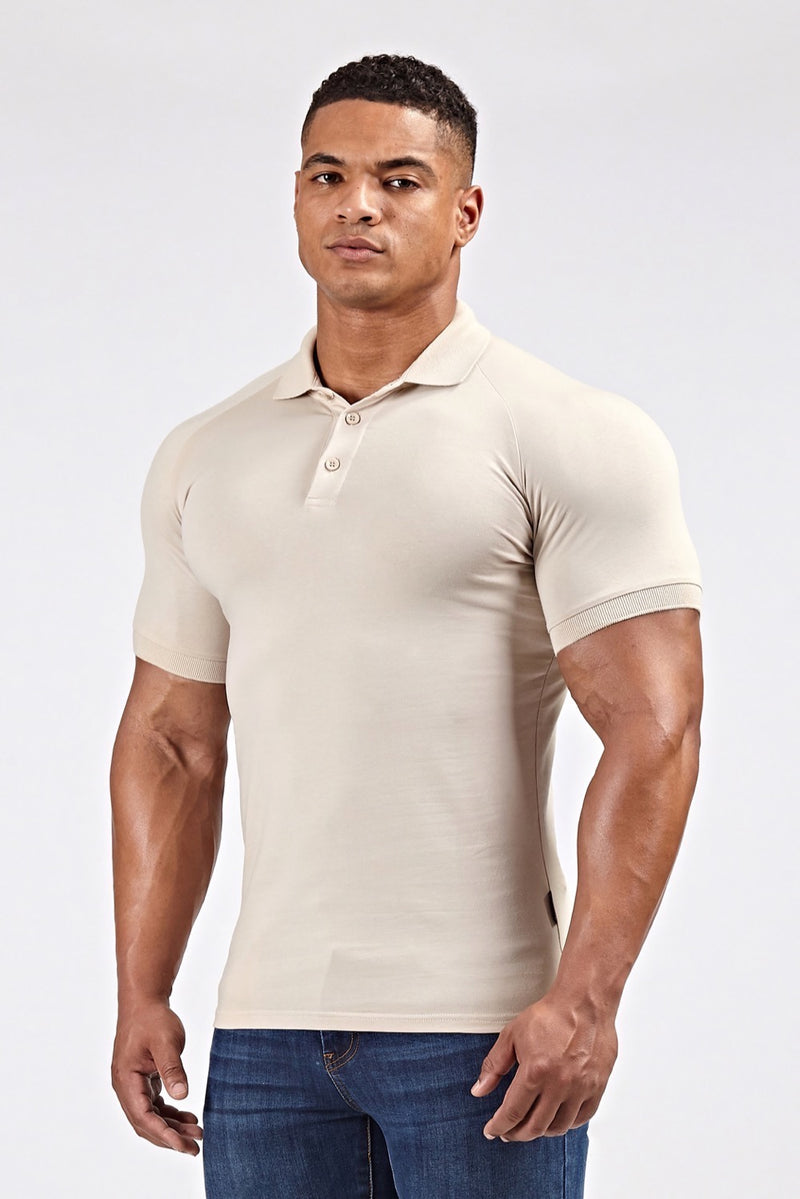 Stretch Polo Shirt In Sand (SS19)