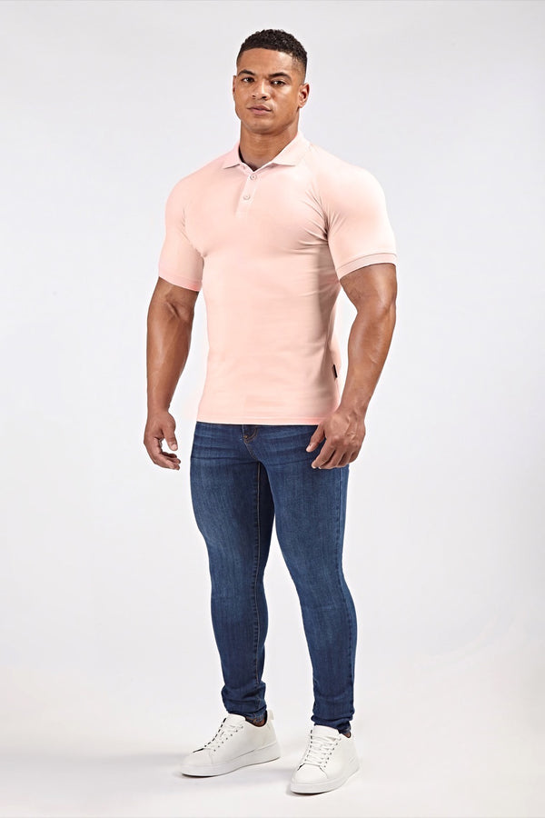 Stretch Polo Shirt in Light Pink (SS19)