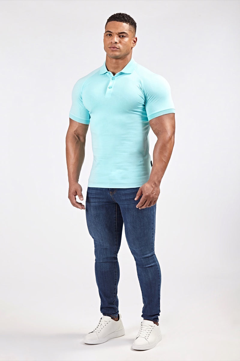 Stretch Polo Shirt in Light Blue (SS19)