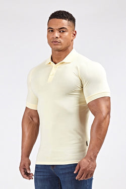 Stretch Polo Shirt in Light Yellow (SS19)