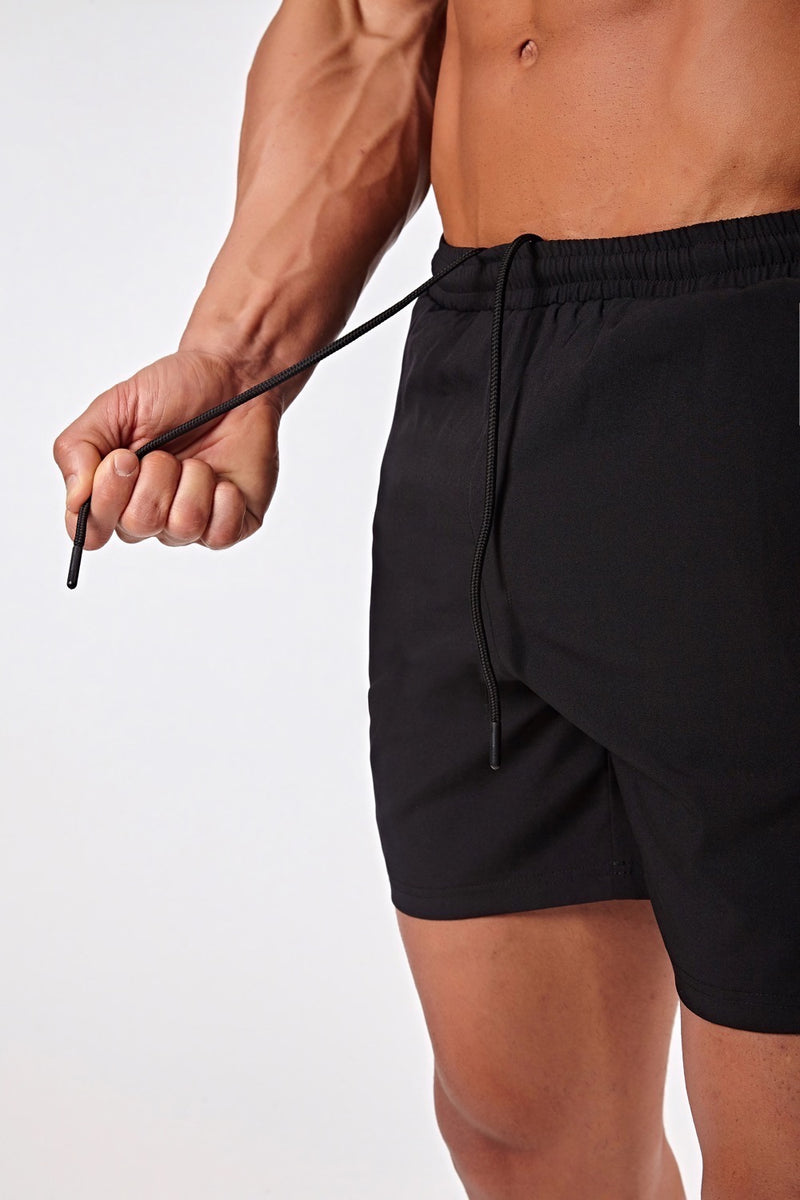 Stretch Swim Shorts in Black