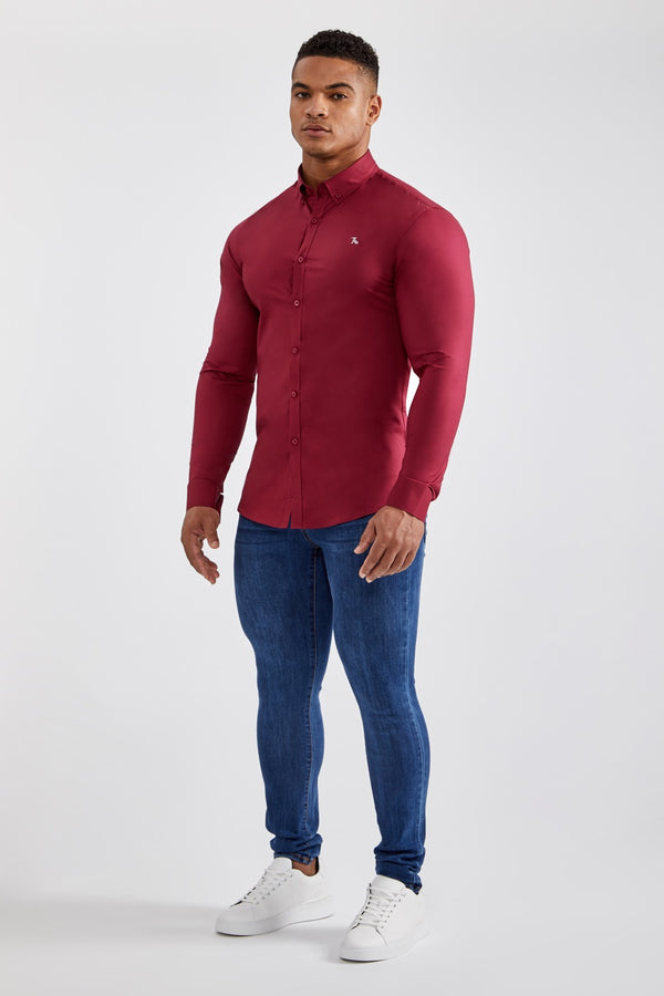 Essential Signature Shirt in Burgundy