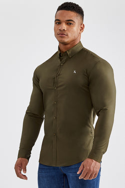 Essential Stretch Shirt in Olive