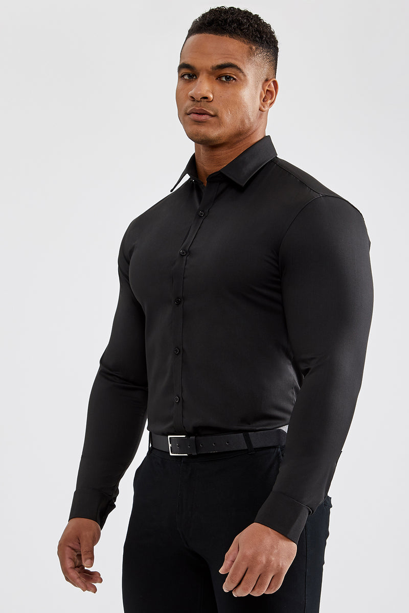 Essential Dress Shirt in Black