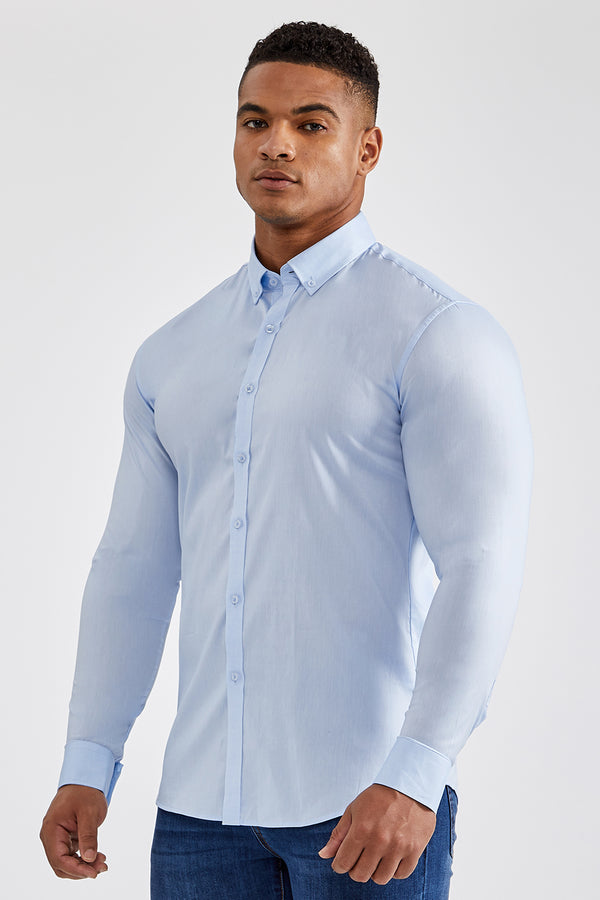 Premium Oxford Shirt in Light Blue