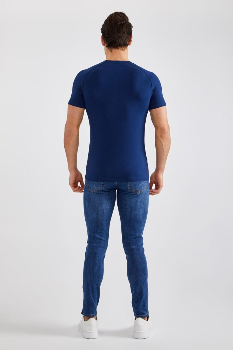 Stretch T-Shirt in Navy