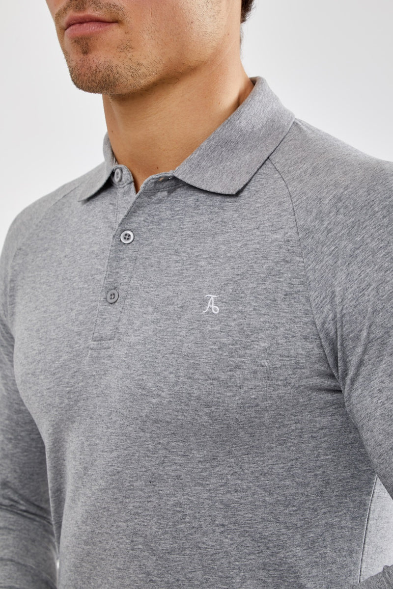 Essential Polo Shirt (LS) in Grey