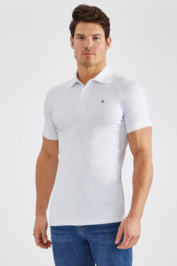 Stretch Polo Shirt in White