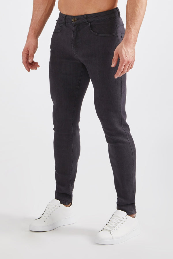 Premium Stretch Jeans in Dark Grey