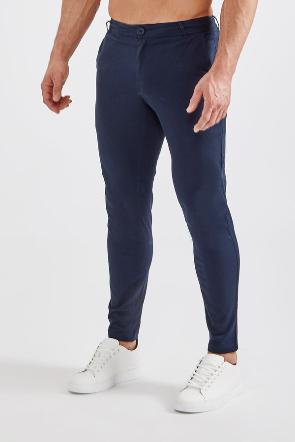 Premium Stretch Chinos in Navy