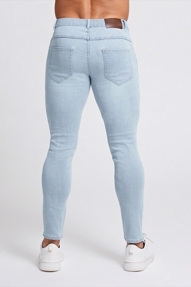 Premium Stretch Jeans in Sky Blue