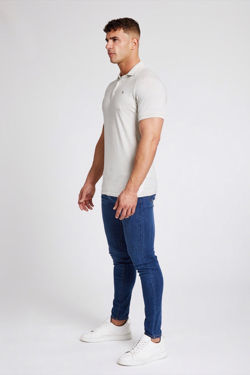 Essential Polo Shirt in Marl