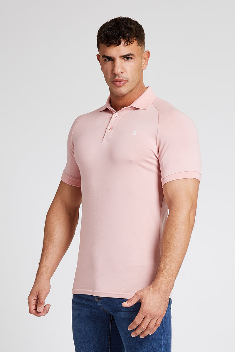 Essential Polo Shirt in Rose Pink