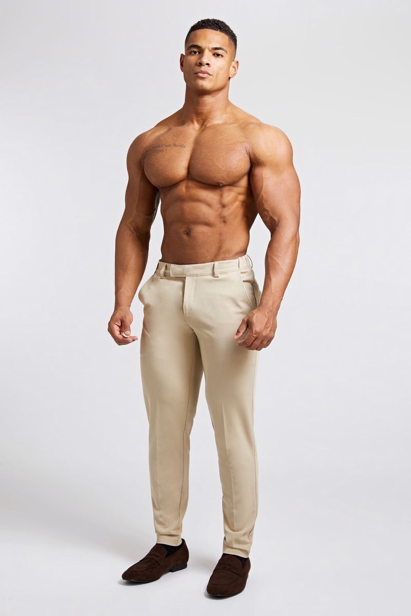 Essential Trousers in Beige