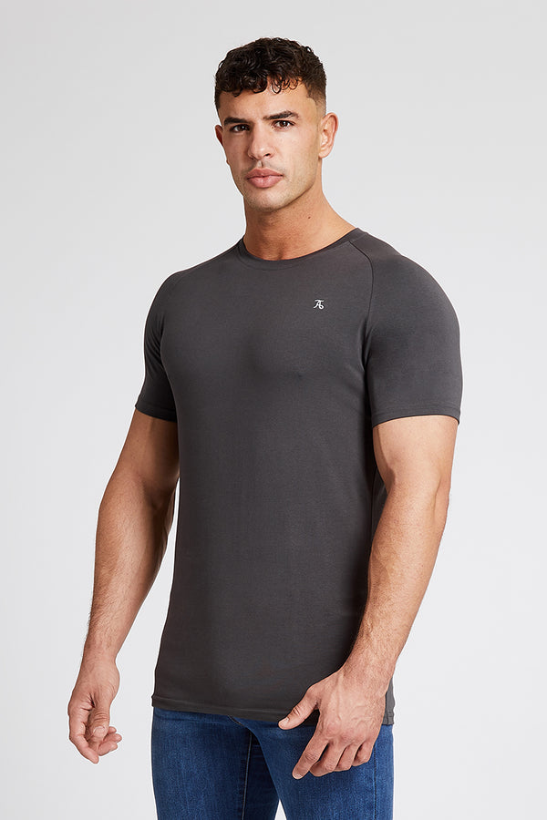 Essential T-Shirt in Charcoal