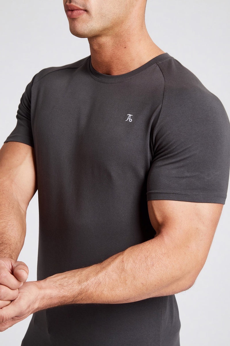 Stretch T-Shirt in Charcoal