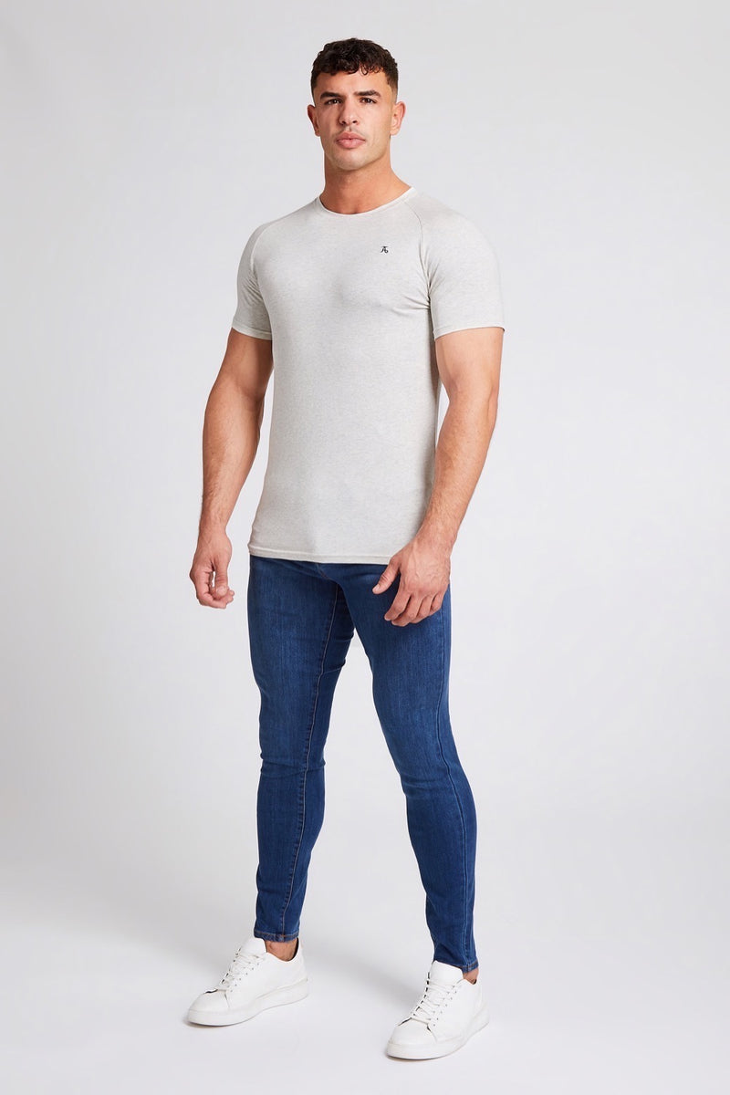 Stretch T-Shirt in Marl
