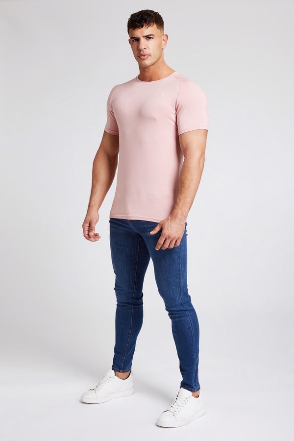 Stretch T-Shirt in Rose Pink