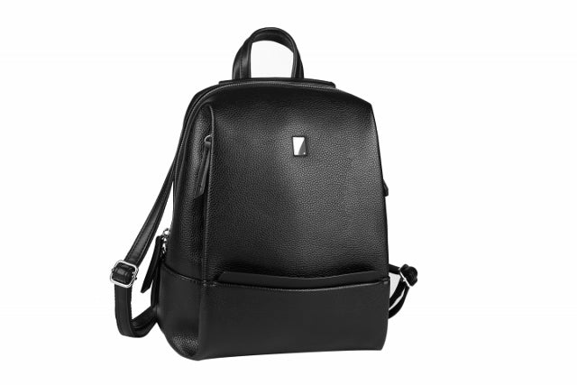 (R) WAINA vegan leather backpack convertible crossbody bag - black - Slumber Party