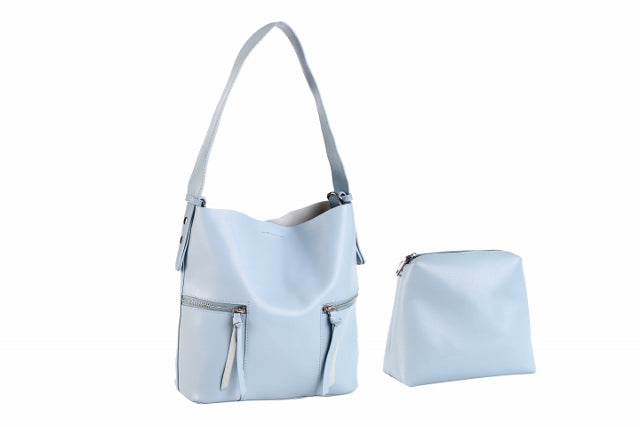 (R) LEILANI vegan leather bucket bag - blue - Slumber Party