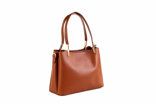 (R) MAU LOA  vegan leather satchel tote/shoulder bag - chest nut - Slumber Party