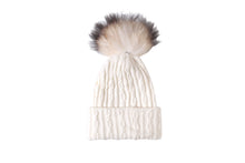 (retail)Angora 2-in-1 Convertible Beanie & Scarf w/ Genuine fur Pom Pom - Slumber Party