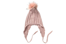 (retail))Angora Beanie with Pom-Pom and Ear cover - Slumber Party
