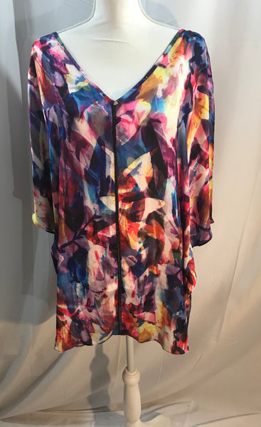 Lightweight Multi Colored Print Blouse