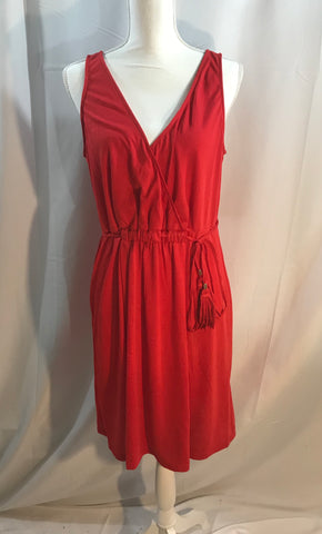 Orange Sleeveless Dress