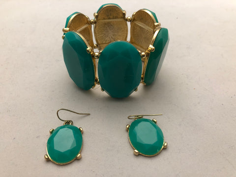 Tasha Turquoise Bracelet and Earrings
