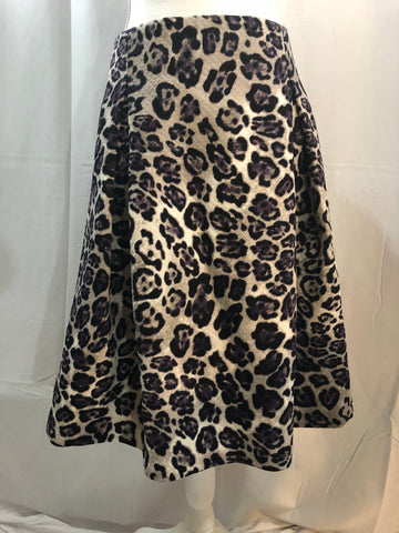 Roz & Ali Animal Print Skirt Size 14