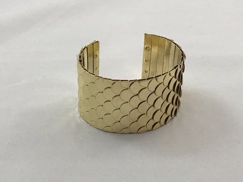 Scalloped Gold Cuff Bracelet
