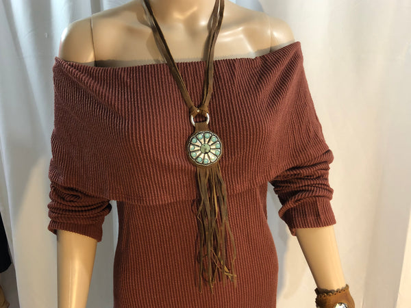 Fashion To Figure Brown Off Shoulder Dress Womens Size 2