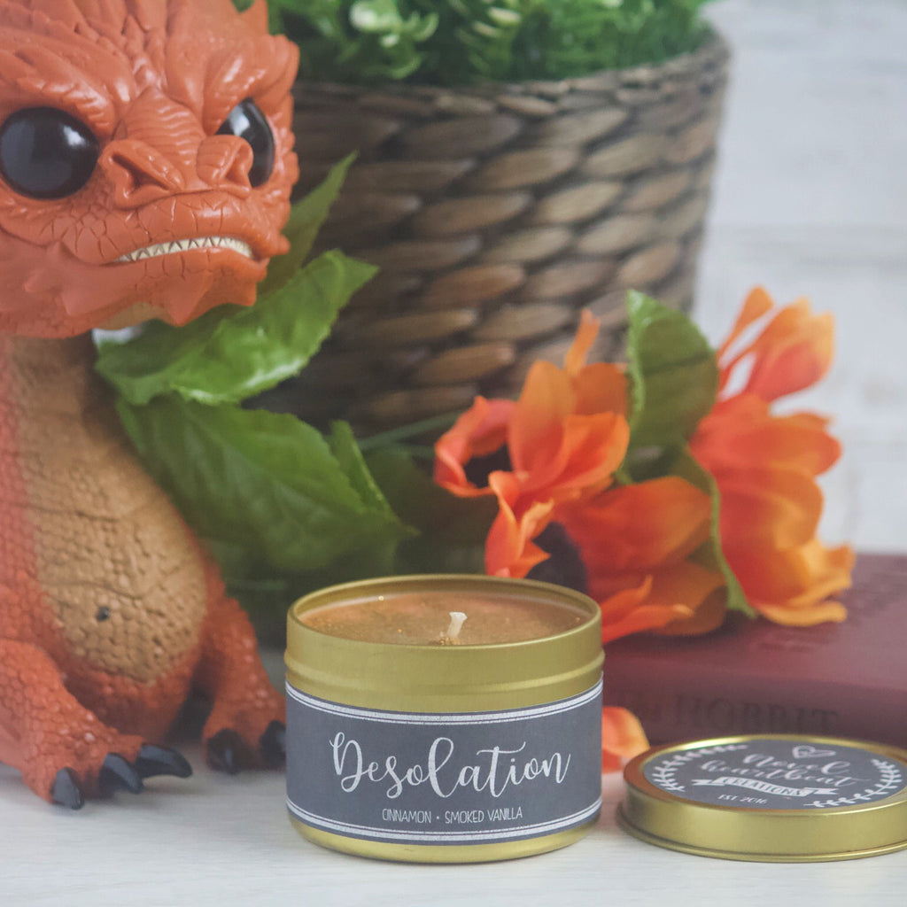 SPECIAL EDITION GOLD TIN | DESOLATION SOY CANDLE INSPIRED BY THE HOBBIT
