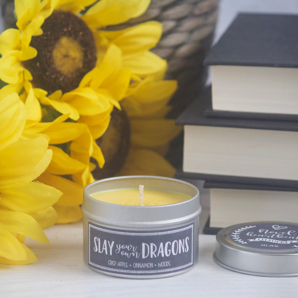 SLAY YOUR OWN DRAGONS SOY CANDLE TIN