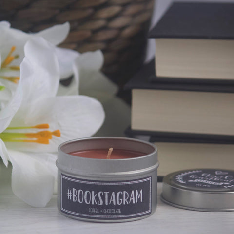 #BOOKSTAGRAM SOY CANDLE TIN