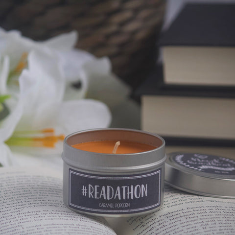 #READATHON SOY CANDLE TIN