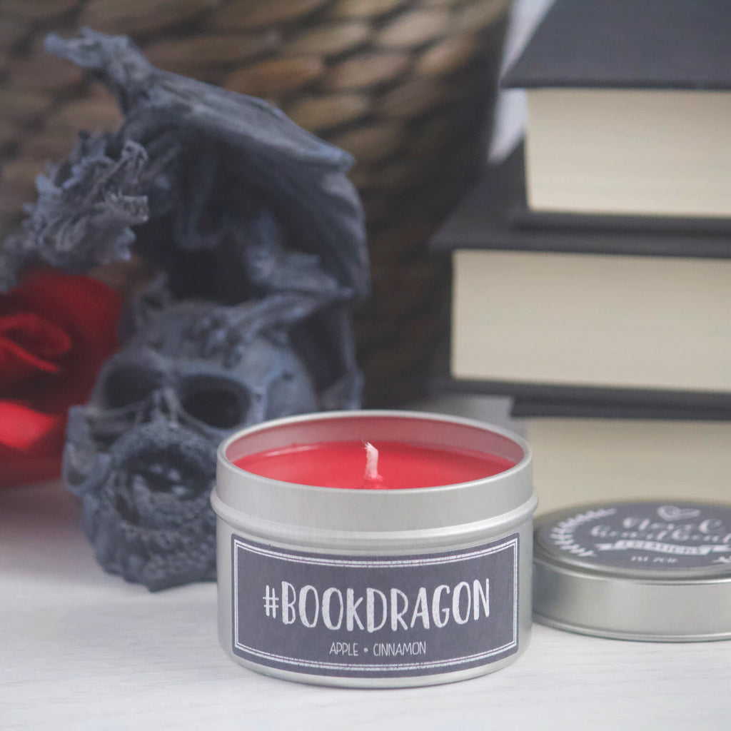 #BOOKDRAGON SOY CANDLE TIN