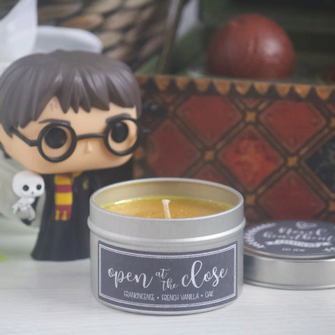 OPEN AT THE CLOSE SOY CANDLE TIN