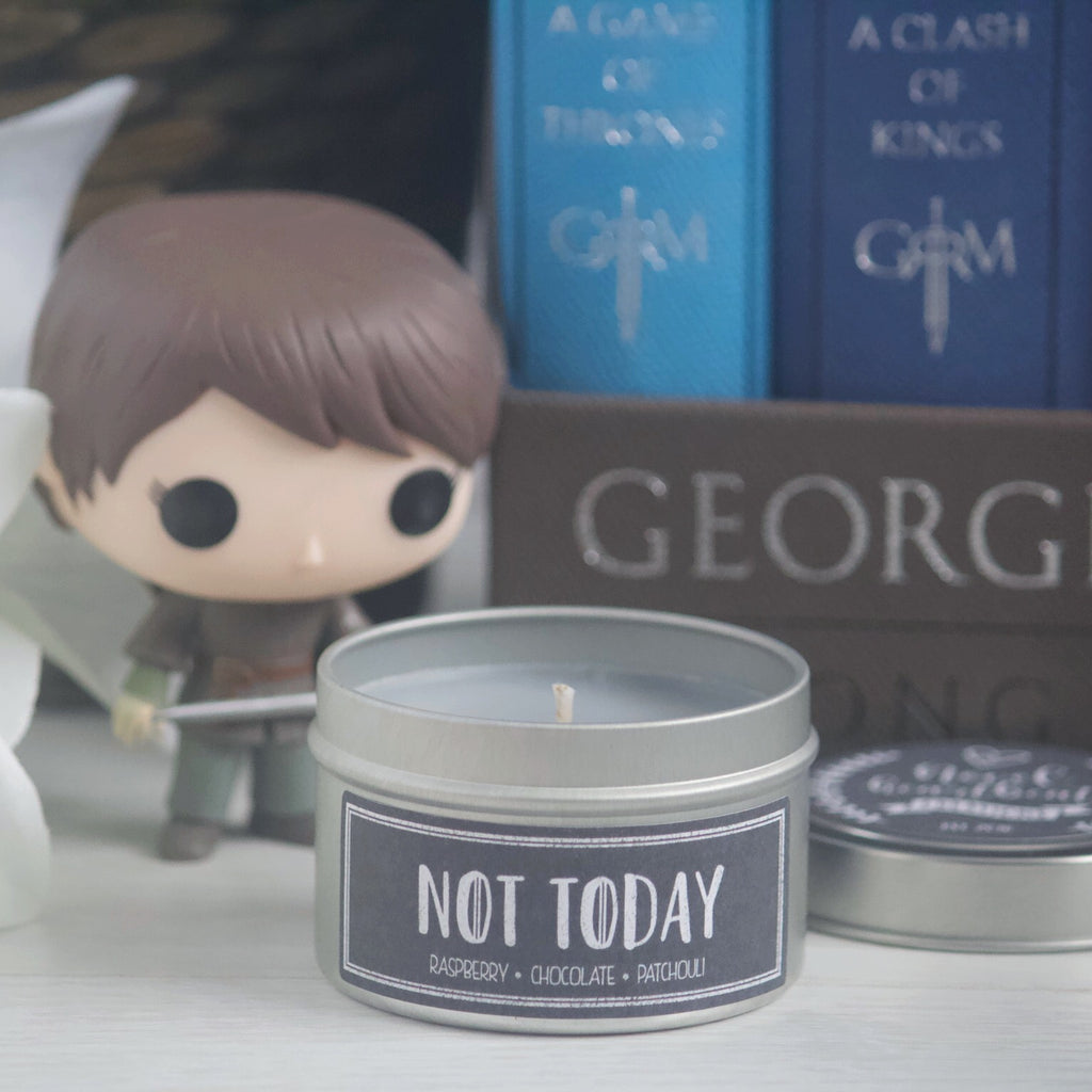 NOT TODAY SOY CANDLE TIN