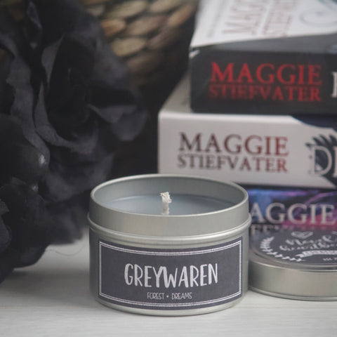 GREYWAREN SOY CANDLE TIN INSPIRED BY THE RAVEN BOYS