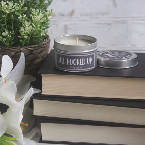ALL BOOKED UP SOY CANDLE TIN