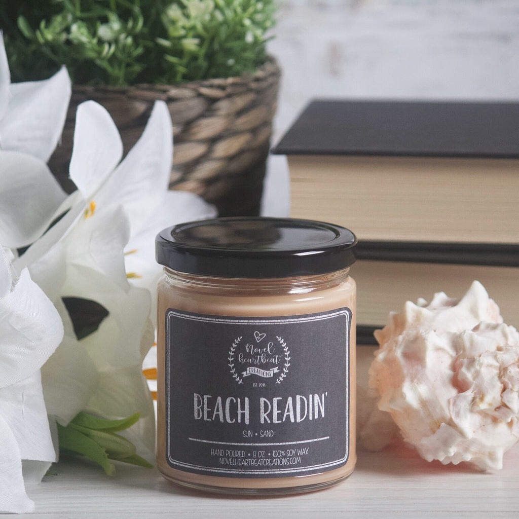 BEACH READIN' 8 OZ SOY JAR CANDLE | LIMITED SUMMER EDITION