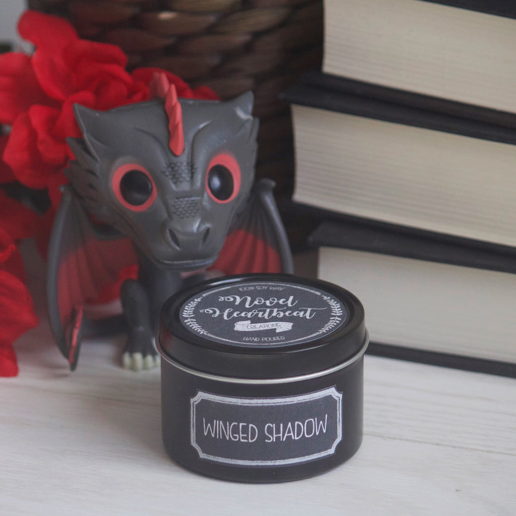 SPECIAL EDITION BLACK TIN (PRE-ORDER) | WINGED SHADOW SOY CANDLE