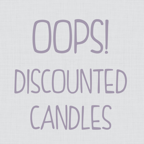 "DISCOUNTED ""OOPS"" CANDLES"