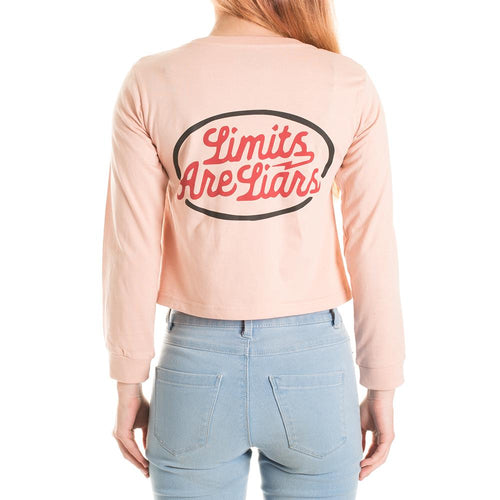 LIMITS LONGSLEEVE CROP - PEACH