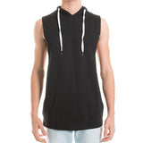 SLEEVELESS HOOD - BLACK