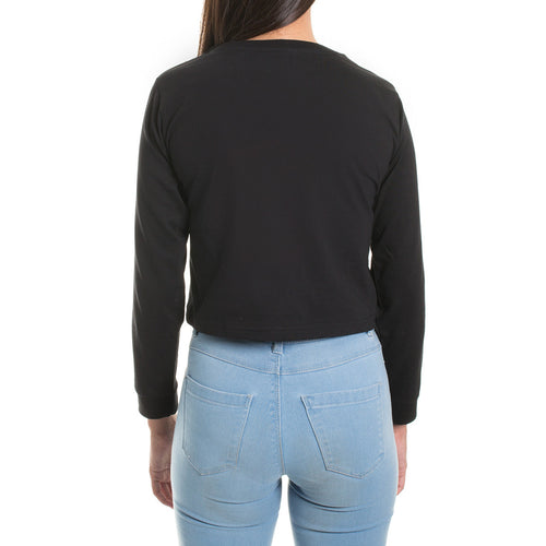 LONGSLEEVE CROP - BLACK